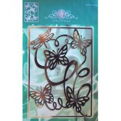Метална щанца за ембос - Joy Crafts -  Line & Lene Achtergrond stencil пеперуди