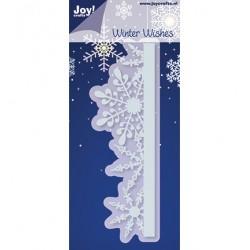 Метална щанца за рязане и релеф бордюр със снежинки - JoyCrafts - C&E stencil rand met ijskristallen