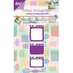 Метални щанци за рязане и релеф - JoyCrafts - Snij & Embossing stencil memo - бележки, тагове