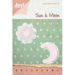 Метални щанци за рязане и релеф - JoyCrafts - Snijstencil (2st) zon / maan - слънче и луна