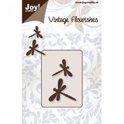 Универсална щанца за изрязване винтидж морски кончета - JoyCrafts - Vintage Flourishes libelle (2st)
