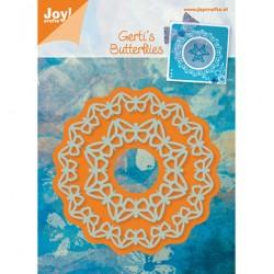 Шаблон за изрязване и релеф рамки от пеперуди - Joy Crafts - Snij-en Embossing stencil Cirkel vlinder (2st)