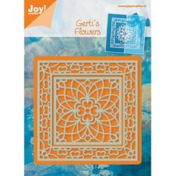 Шаблон за изрязване и релеф рамка - Joy Crafts - Snij-en Embossing stencil Vierkant bloem (2st)