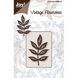 Шаблон за рязане винтидж клонка - Joy crafts - Vintage Flourishes - Stencil Leaf