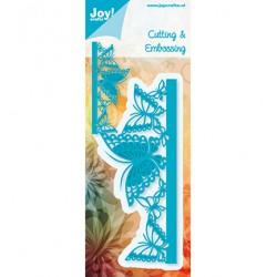 Шаблон за изрязване и релеф бордюр от пеперуди - JoyCrafts - Cutting & Embossing - Rand  Vlinders