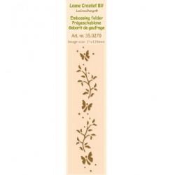 Бордюрна ембосинг папка - Leane Creatief - Border Embossing folder Branch - 21x128mm