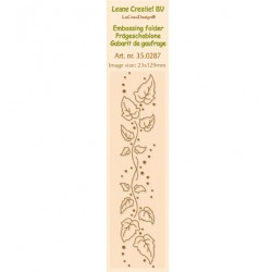 Бордюрна ембосинг папка - Leane Creatief - Border Embossing folder Ivy swirl - 23x129mm