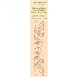 Бордюрна ембосинг папка - Leane Creatief - Border Embossing folder Ivy swirl - 23x129mm