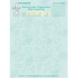 Папка за релеф сърца - Leane Creatief - Embossing folder - Hearts