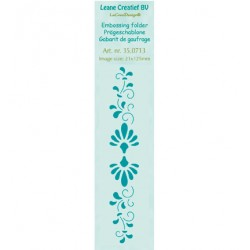 Бордюрна папка за релеф флорални орнаменти - Leane Creatief - Border embossing folder Ornamental
