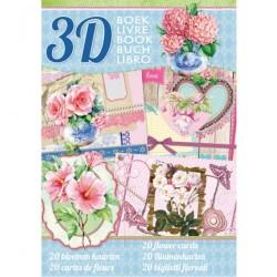 Книжка за направа на 20 3D картички - StudioLight - Bloemen kaarten - 32стр., 170гр.