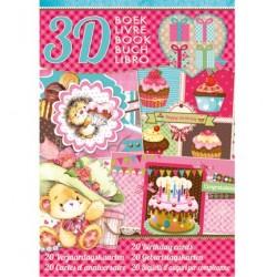 Книжка за направа на 20 3D картички за рожден ден - StudioLight - Verjaardags kaarten - 32стр., 170гр.