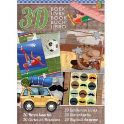 Книжка за направа на 20 3D мъжки картички - StudioLight - Heren kaarten - 32стр., 170гр.