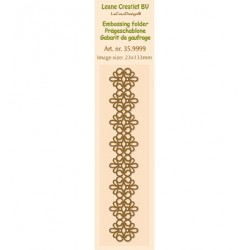 Бордюрна папка за релеф - Leane Creatief - Border Embossing folder Lace