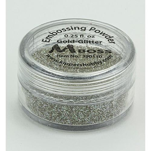 Ембосинг пудра - Mboss - Embossing Powder Gold-Glitter(Special Silver)