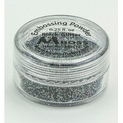 Ембосинг пудра - Mboss - Embossing Powder Black-Glitter (Special Silver)