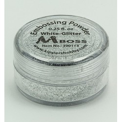 Ембосинг пудра - Mboss - Embossing Powder White-Glitter(Special Silver)