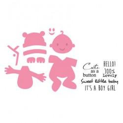 Универсална щанца за изрязване бебе - Marianne Design - Collectable Eline's Baby