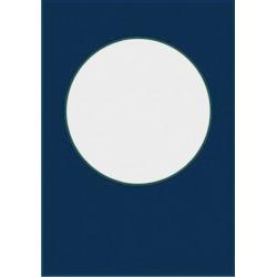 Основа за картичка и плик с отвор за шейкър картичка - кръг