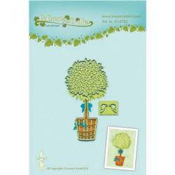 Щанца за рязане и релеф - Lea bilitie -  Pot plant snij en embossing mal