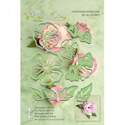 Универсални шаблони за рязане и релеф цвете - Leane Creatief - LeCrea Multi die Flower 005