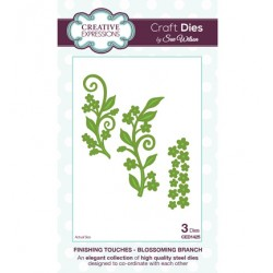 Универсална щанца за изрязване завъртулки, цветя, листа - Creative Expressions - Craft Dies Blossoming Branch