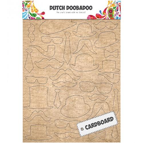 Елементи от дебел пресован картон A5 - DDBD -  Dutch Cardboard Art Mustaches