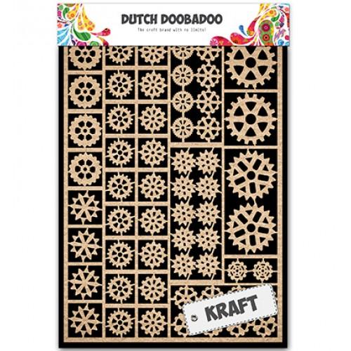 Елементи от крафт картон - DDBD Kraftpapier A5 Gears
