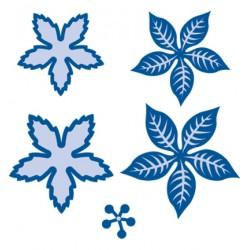 Универсална щанца за рязане коледни звезди - Marianne Design - Creatables Poinsetta minivoor