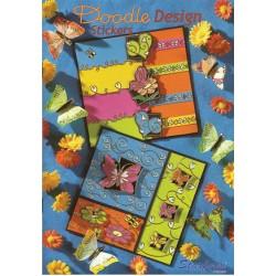 Книжка със стикери - Starform - Boekje Doodle Design Stickers - 32стр.