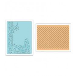 Папки за ембосинг - Sizzix - Text.Impr.Emb.Folders 2PK-Butterfly Lattice Set of 2