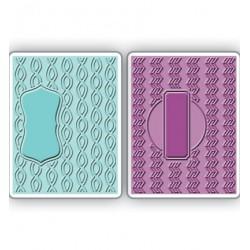 Папки за ембосинг - Sizzix - Textured Impressions Embossing Folders 2PK-Sassy & Circle Labels Set of 2