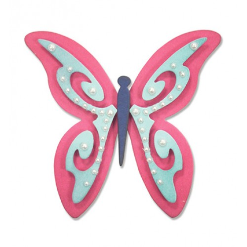 Универсална щанца за рязане - Sizzix - Thinlits Die Set 2PK-Butterfly 3