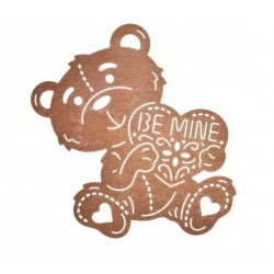 "Универсална метална щанца - мече - ""Be mine"" - Be Mine Teddy Bear"