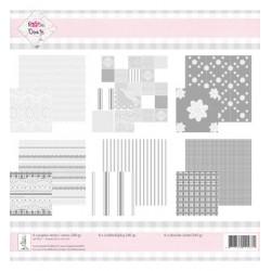 Двустранни дизайнелски хартии 6 бр.- Knipvel pakket Lace - 30.5 x 30.5cm