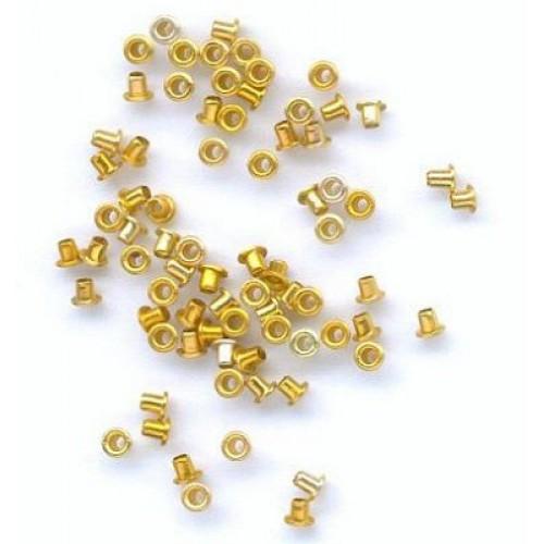 Айлети - злато - Eyelets - Rond - 5mm - 50бр.