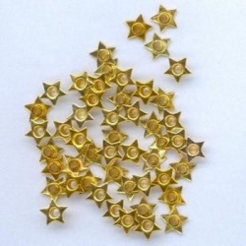 Айлети - злато - Eyelets - Star - 8mm - 50бр.