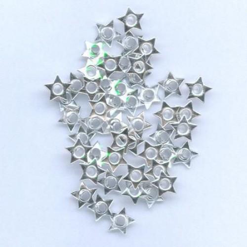 Айлети - сребро - Eyelets Star - Silver - 8mm - 50бр.