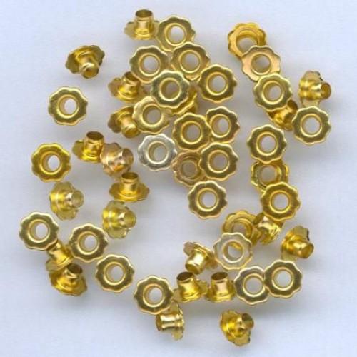 Айлети - злато - Eyelets Flowers - Gold - 6mm - 50бр.