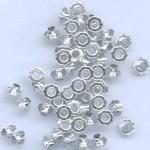 Айлети - сребро - Eyelets Flowers - Silver - 6mm - 50бр.