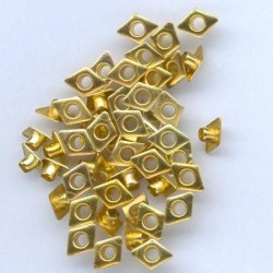 Айлети - злато - Eyelets Diamond - Gold - 6x8mm - 50бр.