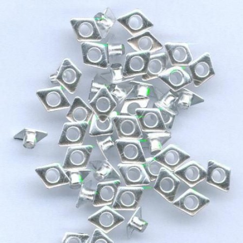 Айлети - сребро - Eyelets Diamond - Silver - 6x8mm - 50бр.
