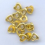 Айлети - злато - Eyelets Hearts - Gold - 10mm - 15бр.