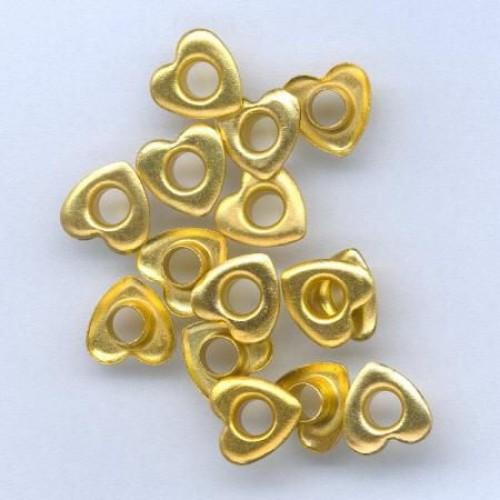 Айлети - злато - Eyelets Hearts - Gold - 10mm - 15бр.