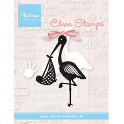 Силиконов печат щъркел - Marianne design - Clear Stamp Ooievaar