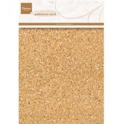 Декоративен самозалепващ се лист с корк - Marianne design - Decoration Adhesive cork - 1 mm thickness / 15 x 21 cm / 5 pcs/