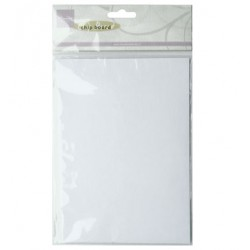 Бял чипборд - Marianne Design - Decoration Chipboard Wit - 5 A5 sheet - white chipboard - 0.7 mm