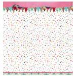 Двустранна дизайнерска хартия - 30,5 x 30,5cm / 200 gr.- Studio Light - Scrap dubbelzijdig Flower Delight nr.04