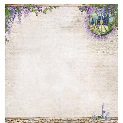 "Двустранна дизайнерска хартия 12"" х 12"" - Scrap dubbelzijdig La Provence nr.02"