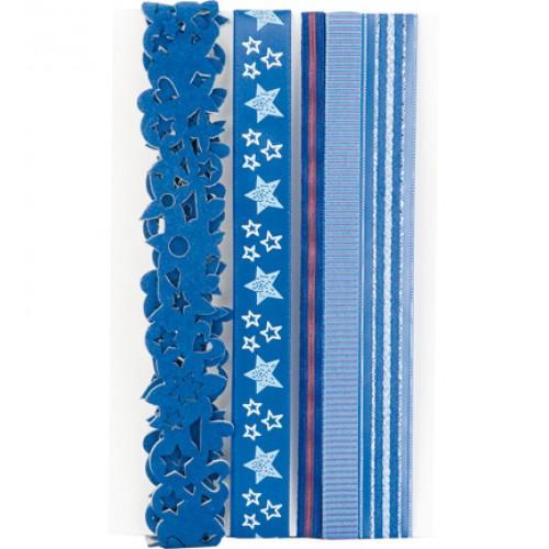 Декоративни панделки 5бр. х 90см - Decoratie Lint 5x90cm Blauw